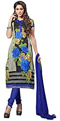 The Desi Attire Women's Bhagalpuri Silk Unsticthed Dress Material (2002_Cream_36)