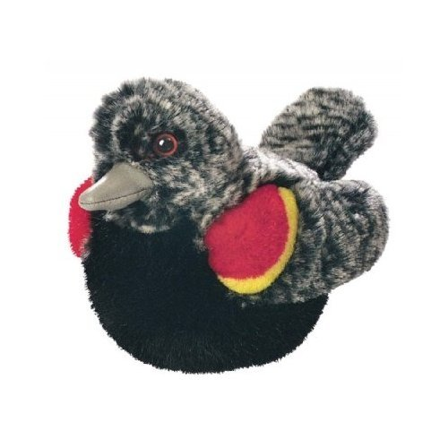Red Winged Blackbird - Audubon Plush Bird (Authentic Bird Sound) - 1