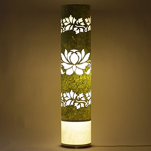 craftter-lotous-green-and-white-35-inch-long-cylinderical-cylinderical-artistic-floor-lamps-handmade