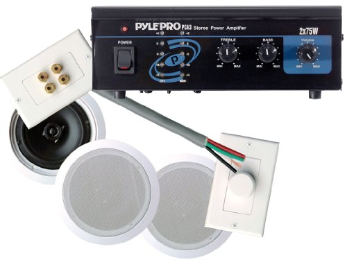 office speaker system. Buy Pyle Hot Amplifier/Speakers/Installation Package For Home/Office/Schools/Public -- PCA3 Mini 2x75W Stereo Power Amplifier + PHSKIT8 300W 8\ Office Speaker System N