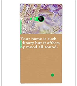 PrintDhaba Quote D-3718 Back Case Cover for NOKIA LUMIA 730 (Multi-Coloured)