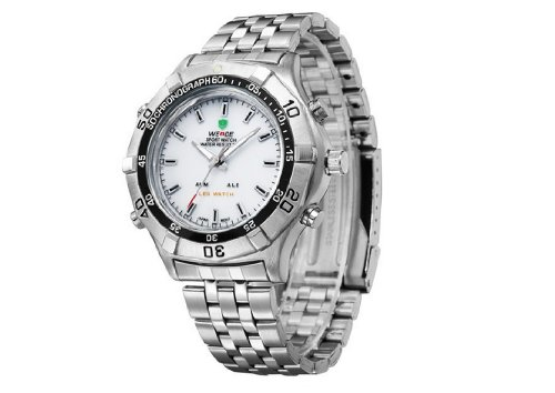 Men'S Waterproof Military Watch Cool Mens Watches White
