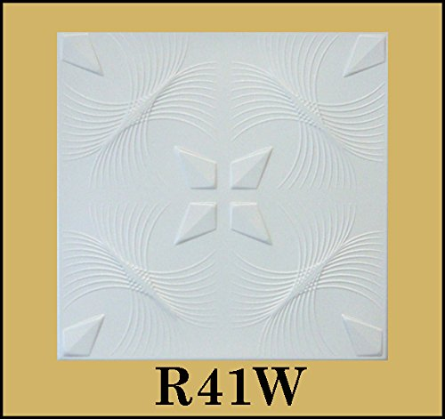 tin-look-glue-up-ceiling-tiles-20x20-styrofoam-extruded-polystyrene-r41w-lot-of-8