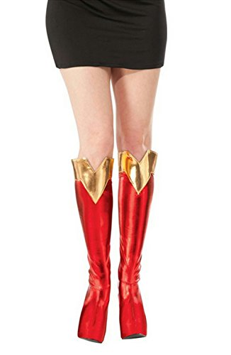 Adulti Superhero Cosplay delle donne Toppers Supergirl Boot Top adulti Rosso / Oro