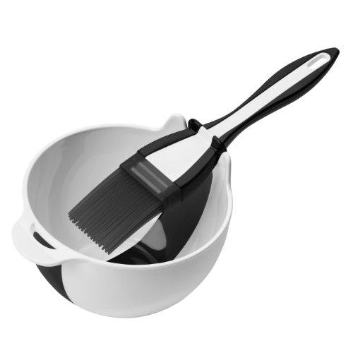 Premier Housewares Basting Brush and Bowl Set -Black