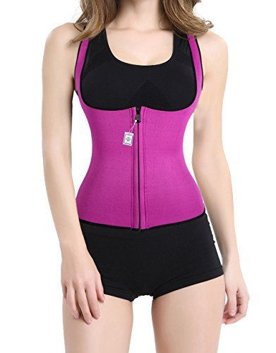 hot-thermo-sweat-body-shaper-shirt-womens-tank-top-vest-for-sport-gym-yoga-slimming-2xl-rose-red