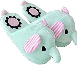Come Home LoveregWinter Warmth Household Warmth Plush Slippers elephant blue