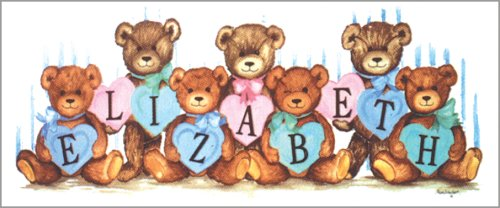 "Art 4 Kids ""Pastel Heart Bears Can"" Mounted Art Print, 30""X11"" front-972121"