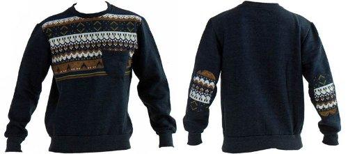 Mens Boys S2 Designer USA Apparel Aztec Print Fleece Sweatshirt Top Jumper
