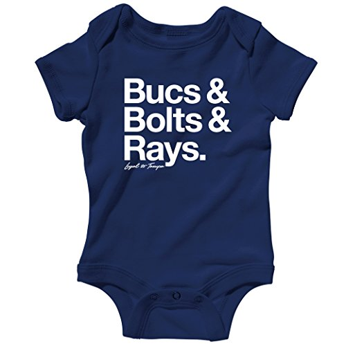 Loyal To Tampa Baby Creeper By Smash Vintage - Navy, 6M front-232170