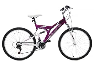 "AMMACO TAMPORIA ALLOY FRAME DUAL SUSPENSION BIKE 26"" WHEEL 16"" FRAME PURPLE AGE 10 TO ADULT"