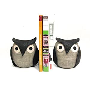 October Hill Dora Designs Cuddly Creature Bookends, Owl Pair, 5-1/2-Inch Tall