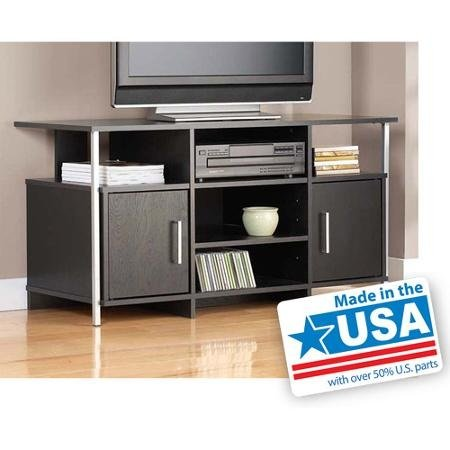 "Tv Stand for Flat Screen Tvs up to 42"", Black- This Black Tv Stand Has a Sleek, Contemporary Style That Looks Great with Any Decor in the Home."