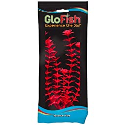 Glofish Plastic Aquarium Plants, Large Ambulia, Starfire Red