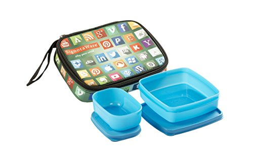 Signoraware Network Twin Smart Lunch Box Set, 2 Pieces, Blue