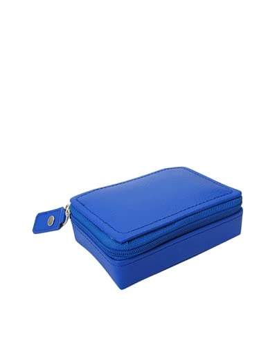 Morelle & Co. Vicky Zippered Jewelry Case, Dazzling Blue
