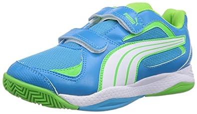 Puma Ballesta V Jr, Unisex-Kinder Hallenschuhe, Blau (fluo blue-white-fluo green 13), 28 EU (10 Kinder UK)