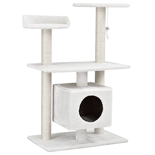 encasa-Katzen-Kratzbaum-ca-60-x-40-x-95-cmwei-Kuschelhhlen-Aussichtsplatformen-Sisal-mit-vielen-Spiel-und-Kuschelmglichkeiten