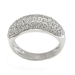 Bague Or blanc - Or 750 Millièmes (18 Carats): 4.80 Gr - Diamant: 0.70 Carat qualité HSI