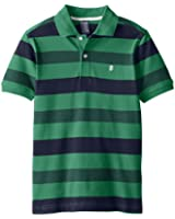 IZOD Big Boys' Short Sleeve Striped Pique Polo