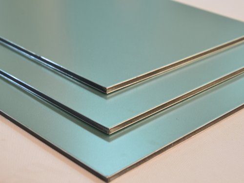 Aluminium Verbundplatte - 3mm - GRÜN/METALLIC - 0,2mm - 200mm x 200mm