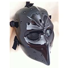 NHL Hockey Goalie Mask Vintage Parent Black Fiberglass Airsoft Mask Fiberglass...