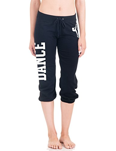 Juniors Dance Capri Sweats S-L (Small, Black2)