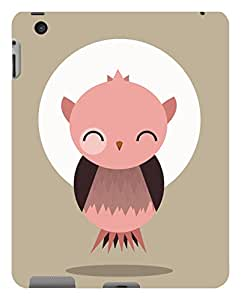 Koveru Designer Protective Back Shell Case Cover for Apple iPad 2 - Sleeping owl on a full moon day