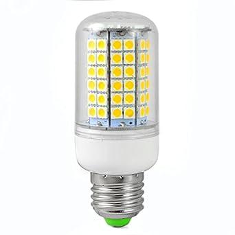 4pz MENGS® Lampada LED 12W E27 Mais LED 96x 5050 SMD LEDs Lampadina LED (Bianca Calda 3000k ...