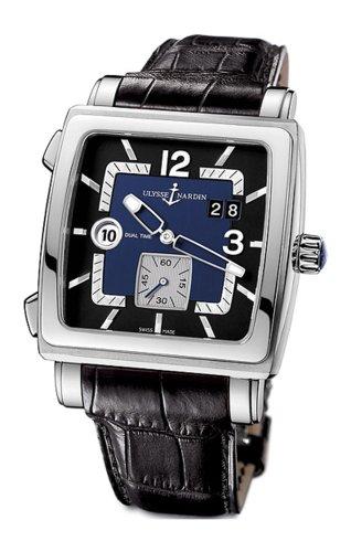 Ulysse Nardin Men's 243-92/632 Quadrato Dual Time Watch