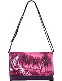 Frosty Fashion Women's Sling Bag (FF-ONLB-300, Purple)