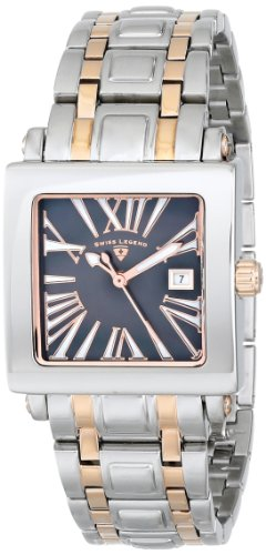 Swiss Legend Women's 20024-SR-01MOP Colosso Black Mother-of-Pearl Dial Two-Tone Stainless Steel Watch
