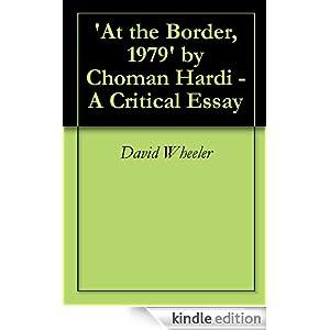 At The Border, 1979 by Choman Hardi