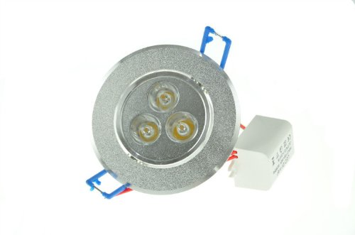 Domire Silvery Led Day White 3W Recess Downlight Ceiling Lamp Replace 25W Incandescent Bulb Energy Efficient Lights