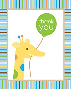 Creative Converting Sweet at One Boys Thank You Notes, 8 Count