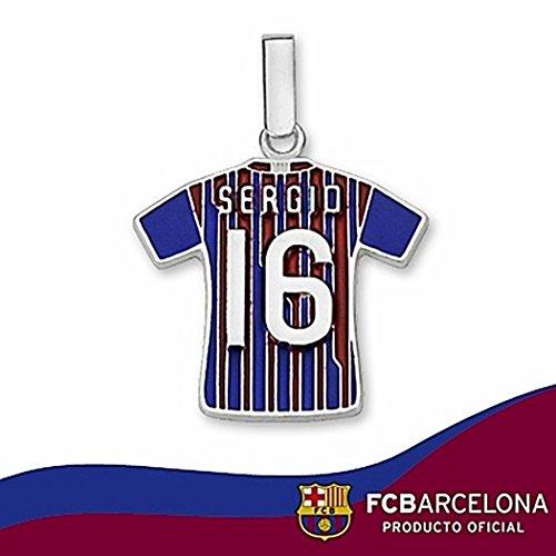 Schermo camicia Football Club Sterling Silver Barcellona Sergio n16 2011-12 [6953] - Modello: 10-112