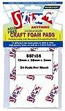 CRAFT FOAM PADS 12MM X 38MM X 3MM - 48 PER PACK