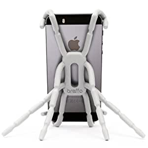 Breffo Spiderpodium Flexible Grip/Mount Car Phone Holder and Dock for iPhone 4/5/Samsung S4 - White