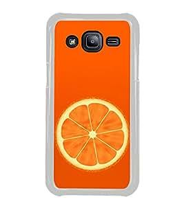 Orange 2D Hard Polycarbonate Designer Back Case Cover for Samsung Galaxy J2 J200G (2015) :: Samsung Galaxy J2 Duos :: Samsung Galaxy J2 J200F J200Y J200H J200GU