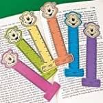 Pack of 12 - Neon Monkey Ruler Bookma...