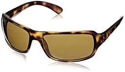 Ray-Ban Men's RB4075 Polarized Rectangular Sunglasses, Havana & Crystal Brown Polarized, 61 mm