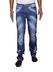 John Wills Men's Slim Fit Jeans (MCR1008--38, Blue, 38)