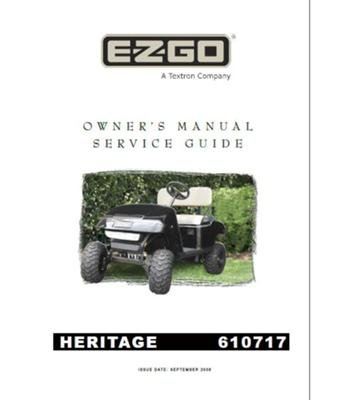 Ezgo 610717 2008 Owners Manual And Service Guide For Gas Txt Personal Use Vehicle