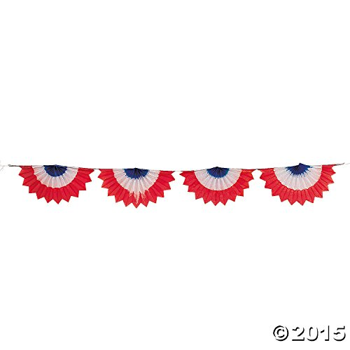 Tissue Patriotic Bunting - Party Decorations & Flags & Bunting