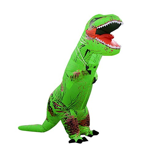 [Inflatable T-Rex Costume, Keepfit Men's Costumes Adult Size Dinosaur T-Rex Costume] (Make Lego Costume Legs)