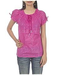 Rajrang Indian Boho Womens Soft Cotton Draw String Top Summer Size L