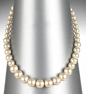 Faux Pearl Graduated Collar Necklace