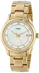 Timex Women's T2P1489J Classic Gold-Tone Stainless Steel Bracelet Watch