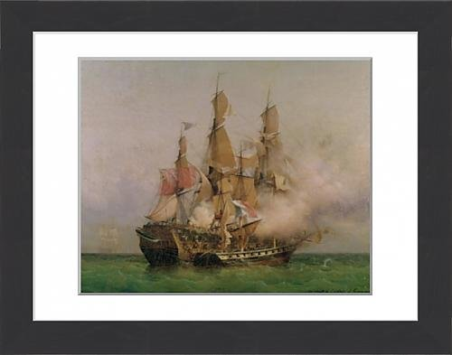 framed-print-of-the-taking-of-the-kent-by-robert-surcouf-1736-1827-in-the-gulf-of