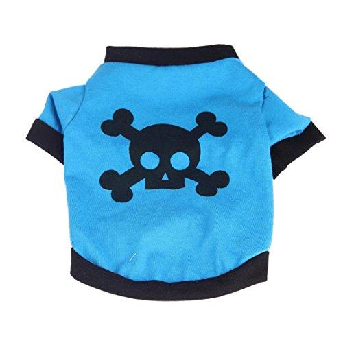 Camicia Piccolo Cane, Dog Shirt, Ouneed® Camicia Moda Estate Sveglia del Cane di Animale Domestico della Maglia Cucciolo Cotone Stampato T XS / S / M / L (XS)